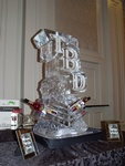 Martini Glass Ice Luge in Oakville by Festive Ice Sculptures
