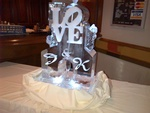 Wedding Ice Luge Hamilton by Festive Ice Sculptures