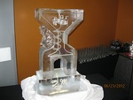 Ice Luge in Windsor Ontario by Festive Ice Sculptures