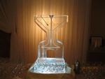 Martini Glass Ice Luge by Festive Ice Sculptures