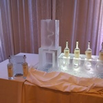 Custom Corporate Logo Ice Luge by Festive Ice Sculptures
