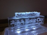 Corporate Ice Logos Stratford by Festive Ice Sculptures