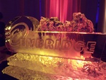 Lighted Corporate Ice Logo design by The Ice Guy at Festive Ice sculptures in London, Ontario