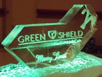 Corporate Ice Logos for Christmas Wishes by Festive Ice Sculptures