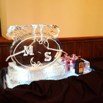 Wedding Initial Coctail Luge Ice and Bottle Chiller Ice Sculpture London Hamilton Cambridge Oakville Windsor