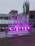 Designer COVID 19 Ice Sculpture Guelph by Festive Ice Sculptures