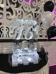 Designer Festive Ice Sculptures for COVID 19 Backyard Party