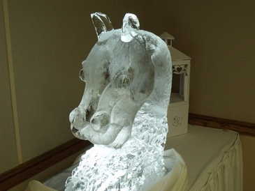 Ice Sculpture Statue by  Festive Ice Sculptures