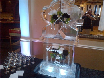 Ice Sculpture for Wedding Hamilton by Festive Ice Sculptures