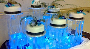 Ice Food Display London Ontario by Festive Ice Sculptures