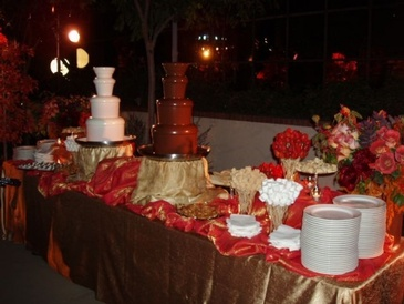 Chocolate Fountain on Ice Sculpture by Festive Ice Sculptures
