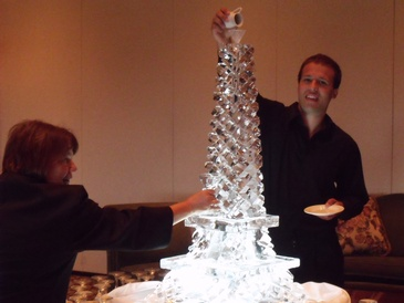 Eiffel Tower Ice Luge Oakville by Festive Ice Sculptures
