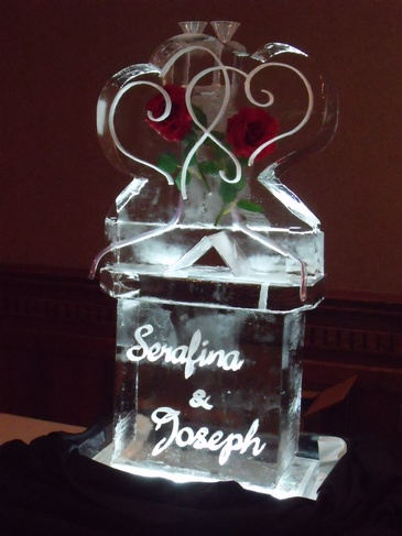 Wedding Ice Luge by Festive Ice Sculptures in London