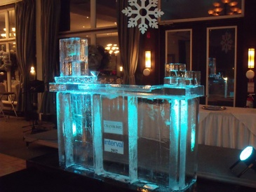 Ice Bar in Oakville Ontario by Festive Ice Sculptures