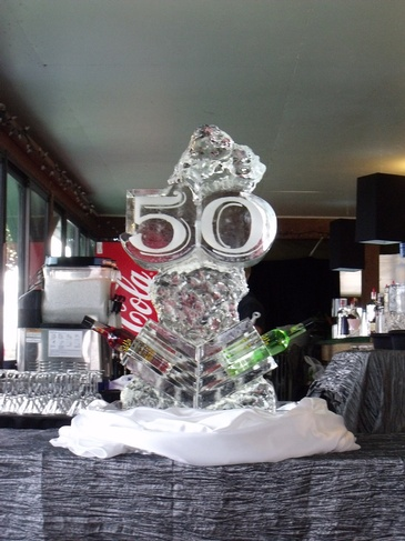 50th Anniversary Ice Sculpture by Festive Ice Sculptures