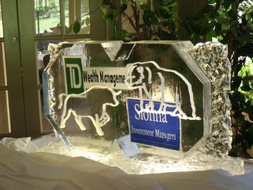 Corporate Ice Logos Toronto by Festive Ice Sculptures