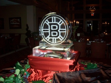 Corporate Ice Logo Sculpture by Festive Ice Sculptures