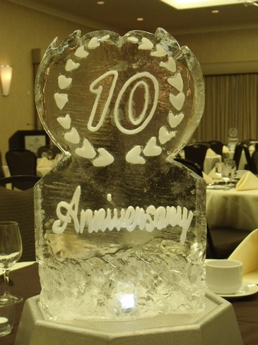 Best Anniversary Ice Sculpture by The Rich Guy at Festive Ice Sculptures