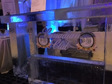 Canadian Club Ice Bar Sculpture by Festive Ice Sculptures