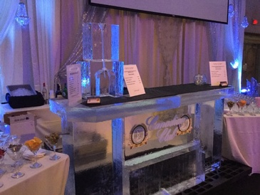 Logo Ice Sculpture Bar by Festive Ice Sculptures in London