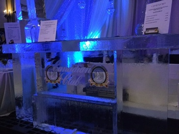 Corporate Ice Logo for Canadian Club by Festive Ice Sculptures