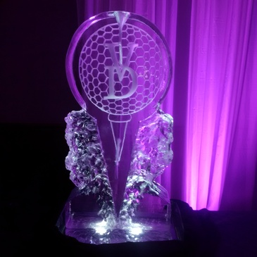 Corporate Ice Logos in Oakville by Festive Ice Sculptures