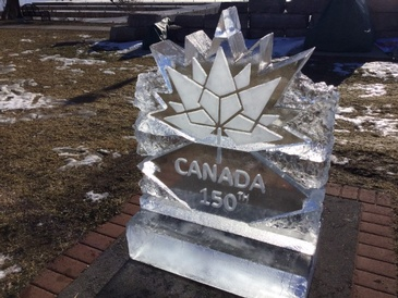 Corporate Ice Logo Sculpture by The Rich Guy at Festive Ice Sculptures