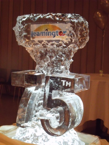 Corporate Ice Logos Leamington by Festive Ice Sculptures