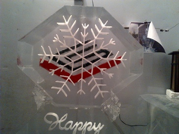 Best Corporate Ice Logo Carving by Festive Ice Sculptures in London