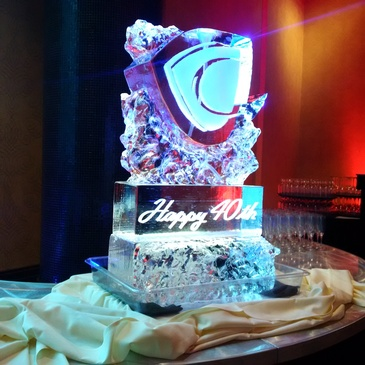 Corporate Ice Logos in Woodstock by Festive Ice Sculptures