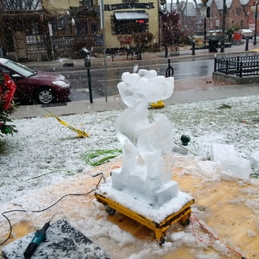 Outdoor Ice design by The Ice Guy at Festive Ice Sculptures in London, Ontario