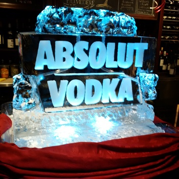 Absolute Vodka Ice Luge by Festive Ice Sculptures