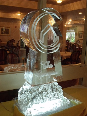 Corporate Ice Logo by Best Ice Sculptors in Cambridge Ontario - Festive Ice Sculptures