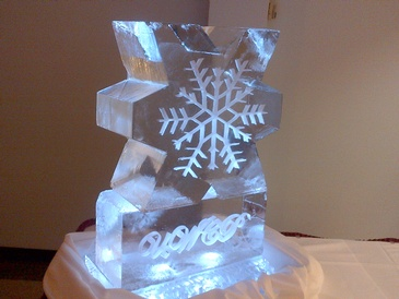 Snowflake Ice design by The Ice Guy at Festive Ice sculptures in London, Ontario