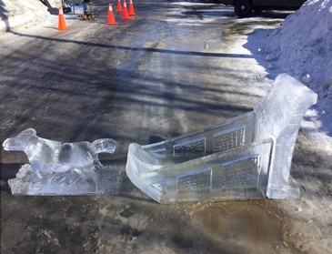 Ice Sculptures in Oakville Ontario by Festive Ice Sculptures