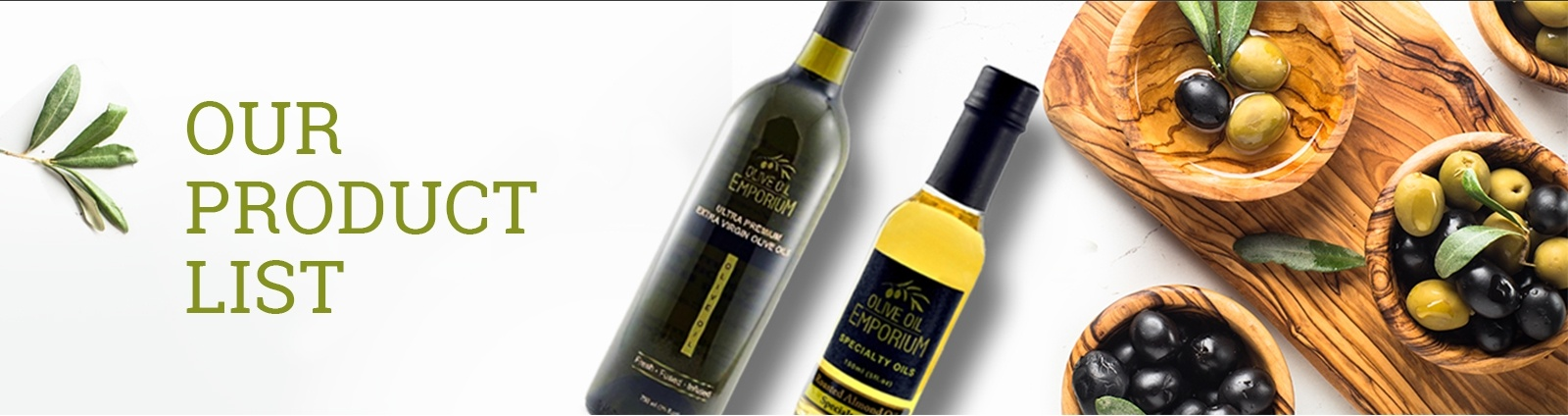 Our Product List - Olive Oil Emporium | Olive Oil and Vinegar Tasting Bar - Toronto