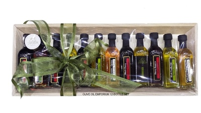 12 Bottle Sampler-Gourmet Olive Oil and Vinegar Gift Set