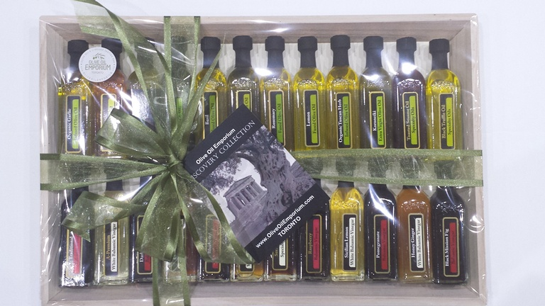 Discovery Collection - 24-Bottle Gourmet Olive Oil and Vinegar Gift Set