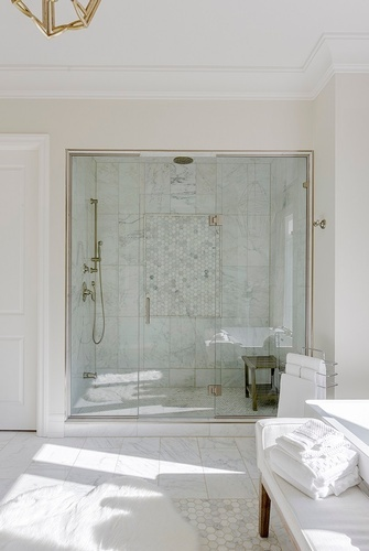 Modern Shower Room - Bathroom Renovations in Thornhill ON by Royal Interior Design Ltd