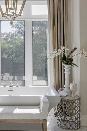 Vase with Flowers Placed on Side Table - Bathroom Renovations in Aurora by Royal Interior Design Ltd