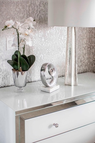 Accents on Console Table - Bedroom Decor King City by Royal Interior Design Ltd
