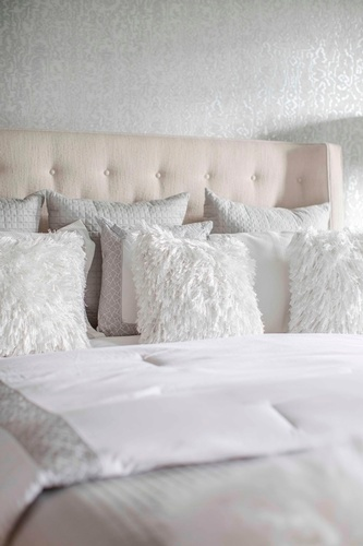 Faux Fur Throw Pillows - Bedroom Decoration Service Stouffville by Royal Interior Design Ltd