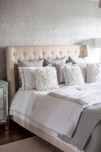 Soft Throw Pillows on Bed - Bedroom Renovation Services Vaughan by Royal Interior Design Ltd