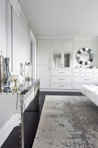 Custom Made White Wooden Bedroom Cabinet - Bedroom Renovations GTA by Royal Interior Design Ltd