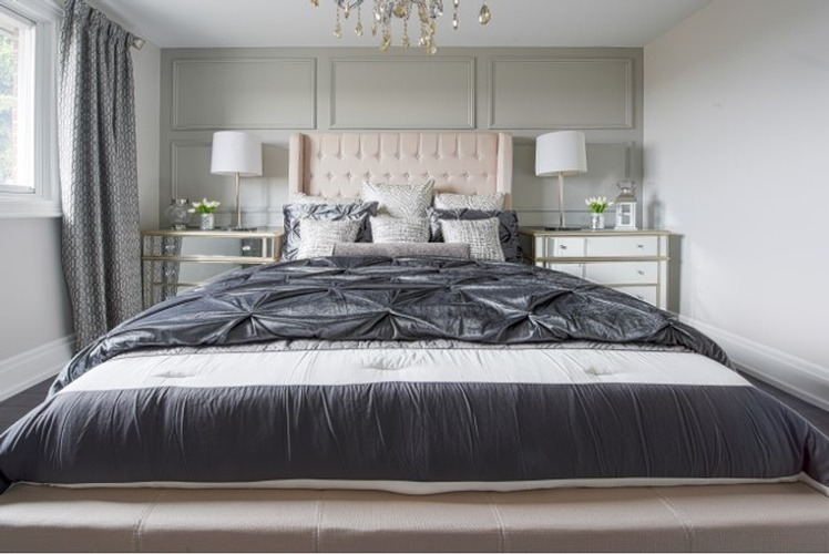 Cozy Bed with Throw Pillows - Bedroom Decorating Service Stouffville by Royal Interior Design Ltd
