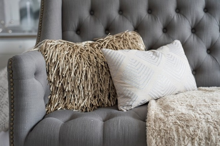 Decorative Throw Pillows on Couch - Bedroom Renovation Vaughan by Royal Interior Design Ltd