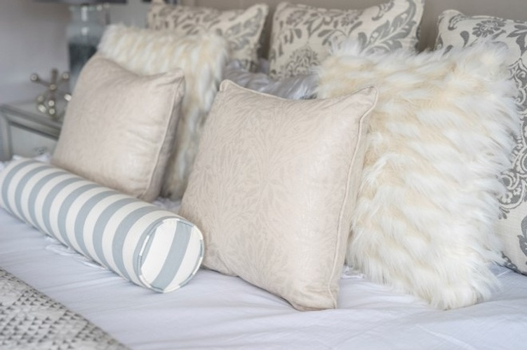 Pillow Arrangements on Bed - Richmond Hill Bedroom Renovations by Royal Interior Design Ltd