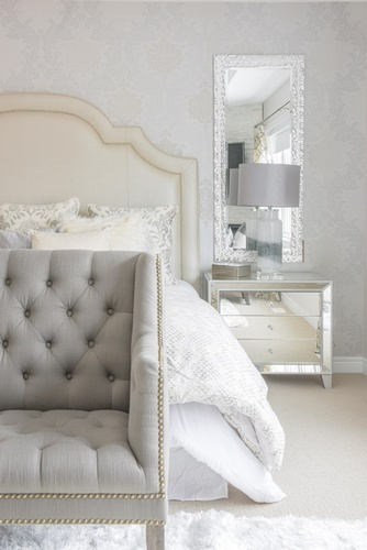 Silver Dresser with Mirror - Bedroom Renovation in Richmond Hill by Royal Interior Design Ltd
