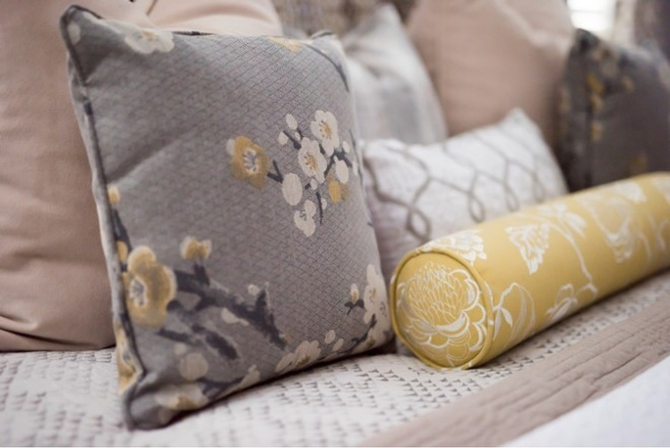 Floral Print Throw Pillows - Bedroom Decor Newmarket ON by Royal Interior Design Inc