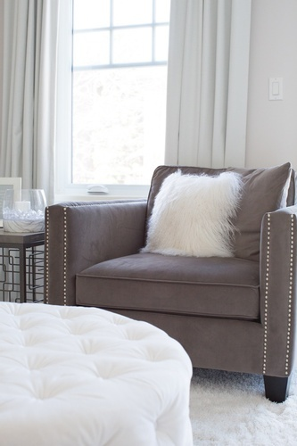 Accent Chair with Throw Pillows - Bedroom Renovation Vaughan by Royal Interior Design Ltd